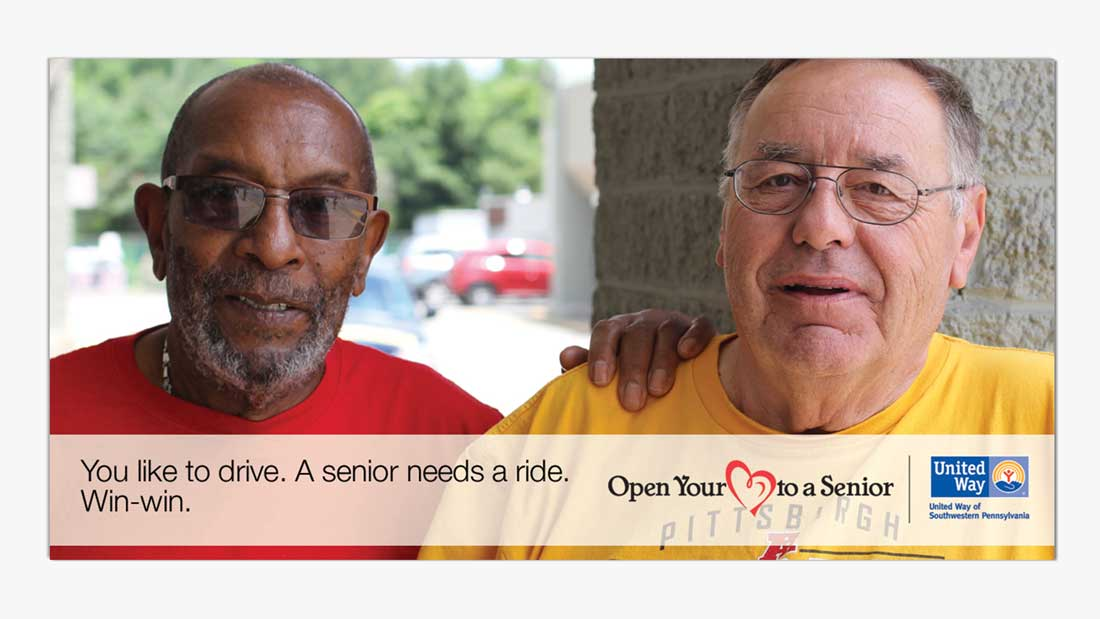 You like to drive. A senior needs a ride.